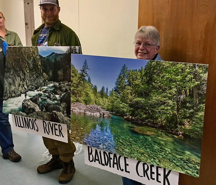 Supporters of the proposed withdrawal brought photos of the beautiful creeks and rivers