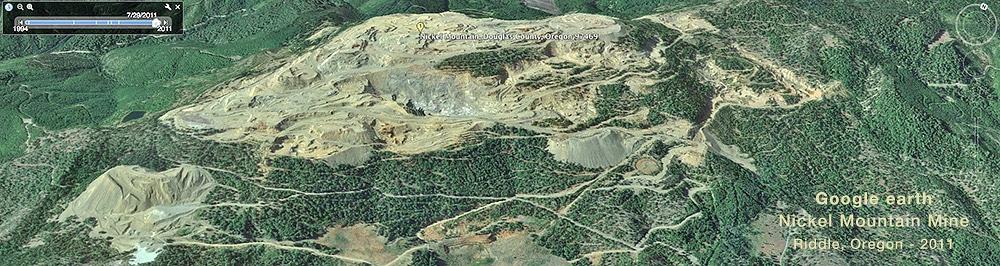 Nickel Mountain Mine Riddle, Oregon