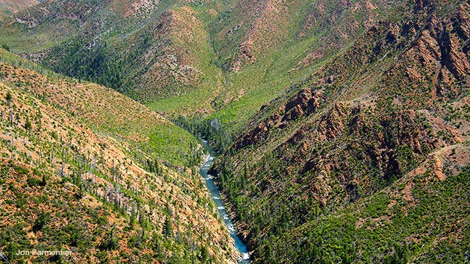 The dramatic canyon of the Wild and Scenic North Fork Smith River in California. Just upstream Red Flat Nickel Corporation want to develop a nickel strip mine on the Rogue River-Siskiyou National Forest. Jon Parmentier photo.