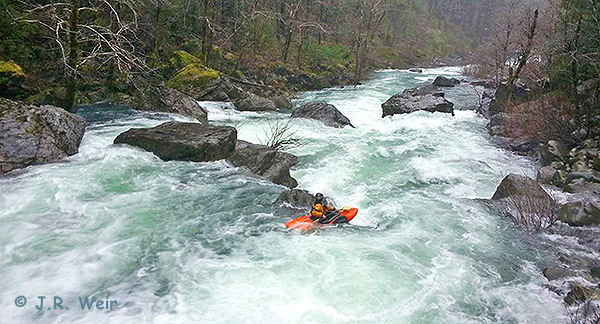 Kayaker J.R. Weir's one-of-a-kind photo of Dan Menten on Baldface Creek during their epic run of the creek and the North Fork Smith River this February.