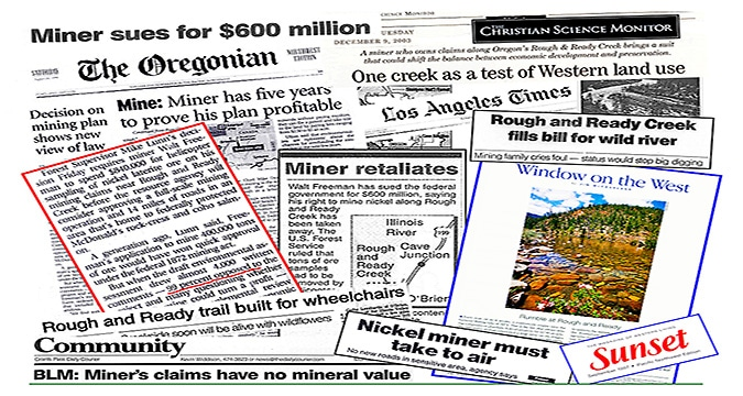 Rough and Ready Creek made headlines in the 1990s