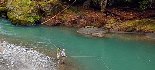Hunter Creek is a native salmon and steelhead stronghold that flows directly into the Pacific Ocean near Gold Beach, Oregon.