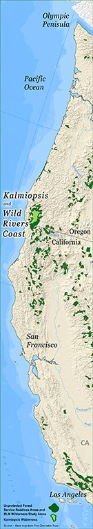 Kalmiopsis Wild Rivers Coast Map