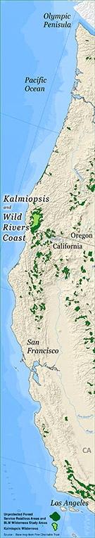 Kalmiopsis Wild Rivers Coast Map