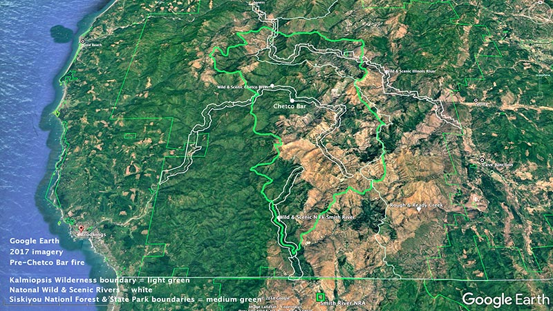 Google earth - Kalmiopsis Region and its Wild and Scenic Rivers