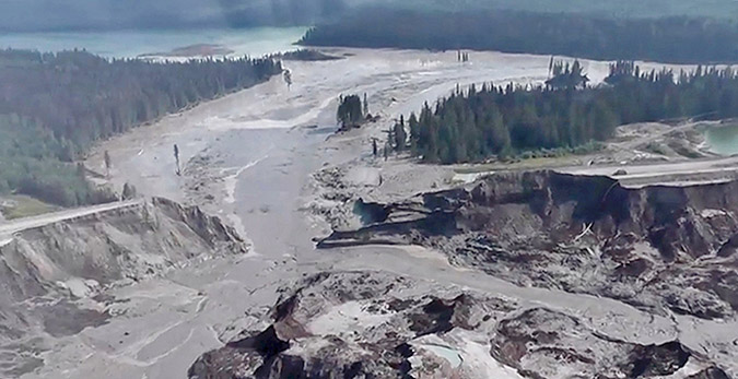 In August 2014 the tailings dam at the Mount Polley Mine in British Columbia failed. It's an example of what could happen here. Watch the video on YouTube.