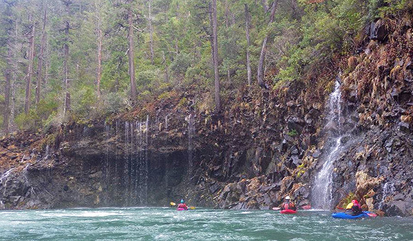 Even during periods of heavy precipitation the waters of the North Fork Smith area clear. J.R. Weir/Sundance Kayak School.