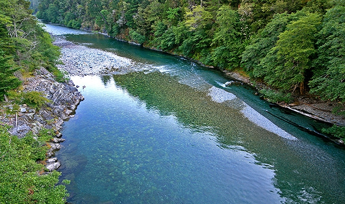 The clear waters of the National Wild and Scenic North Fork Smith River