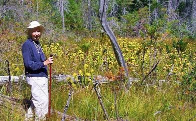 Botanist Veva Stansell at the Hunter Creek Bog ACEC.